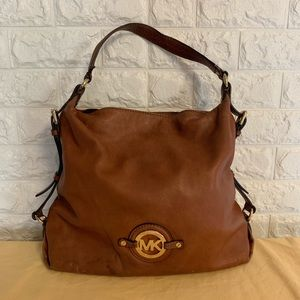 MK COGNAC SHOULDER BAG